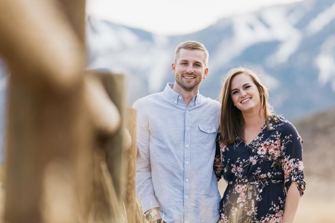 David & Paige Engagement Photo Session Sun Valley, Idaho