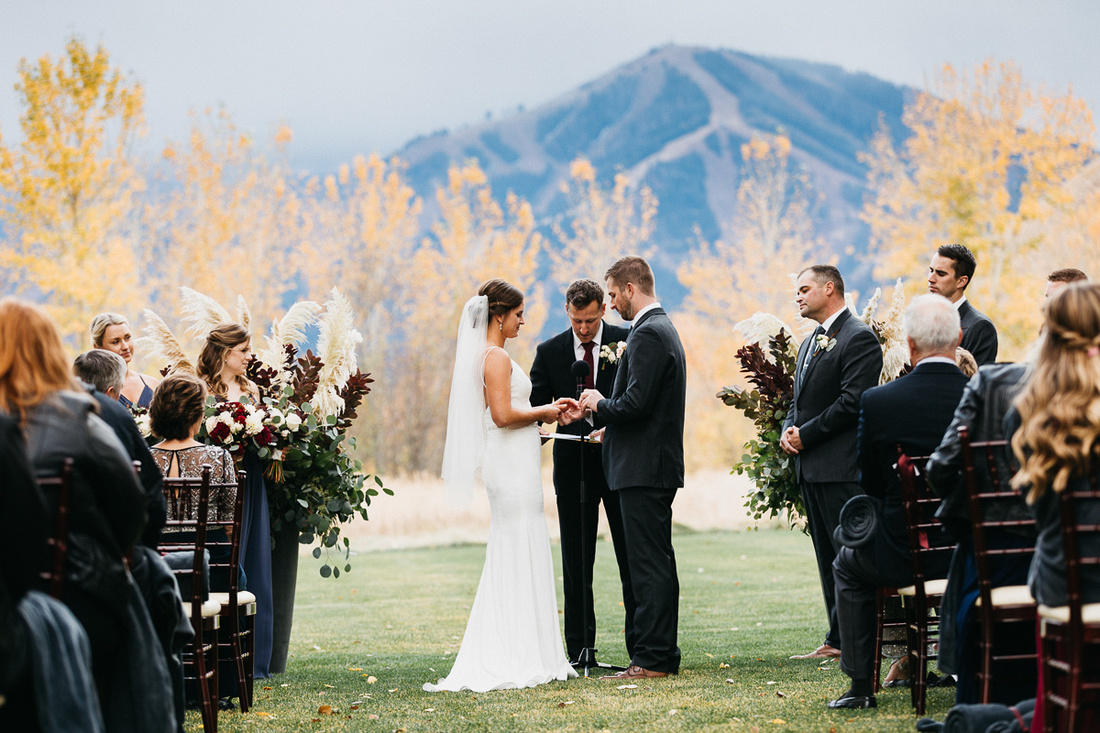 David & Paige's Wedding at Trail Creek Cabin in Sun Valley, Idaho