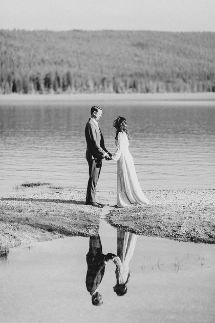 Brady & Abigail engagement photo session at Redfish Lake in Stanley, Idaho