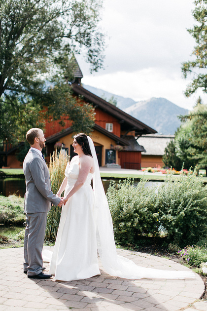 Ian & Katie's reveal at the Sun Valley Lodge in Idaho