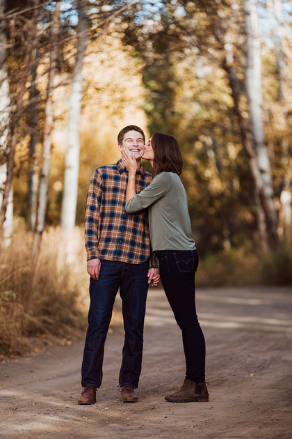 Conner & Ashley fall engagement photo session in Sun Valley, Idaho