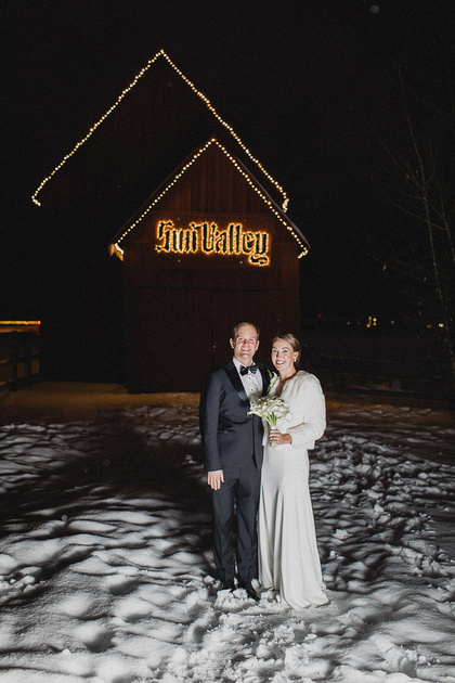 Eric & Kate Winter Wedding in Sun Valley, Idaho at St. Thomas Church & River Run Lodge
