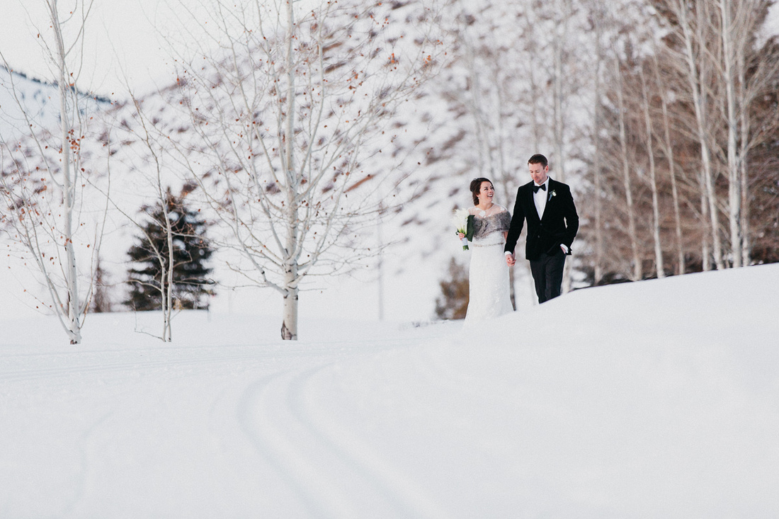 Brady & Abigail winter wedding at the Valley Club in Sun Valley, Idaho