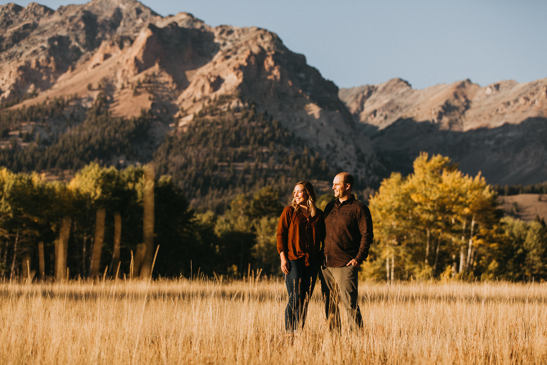 Anna & Taylor Sun Valley, Idaho Engagement Photoshoot