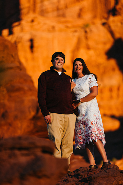 Dylan & Shonti destination engagement photo session in Moab, Utah.