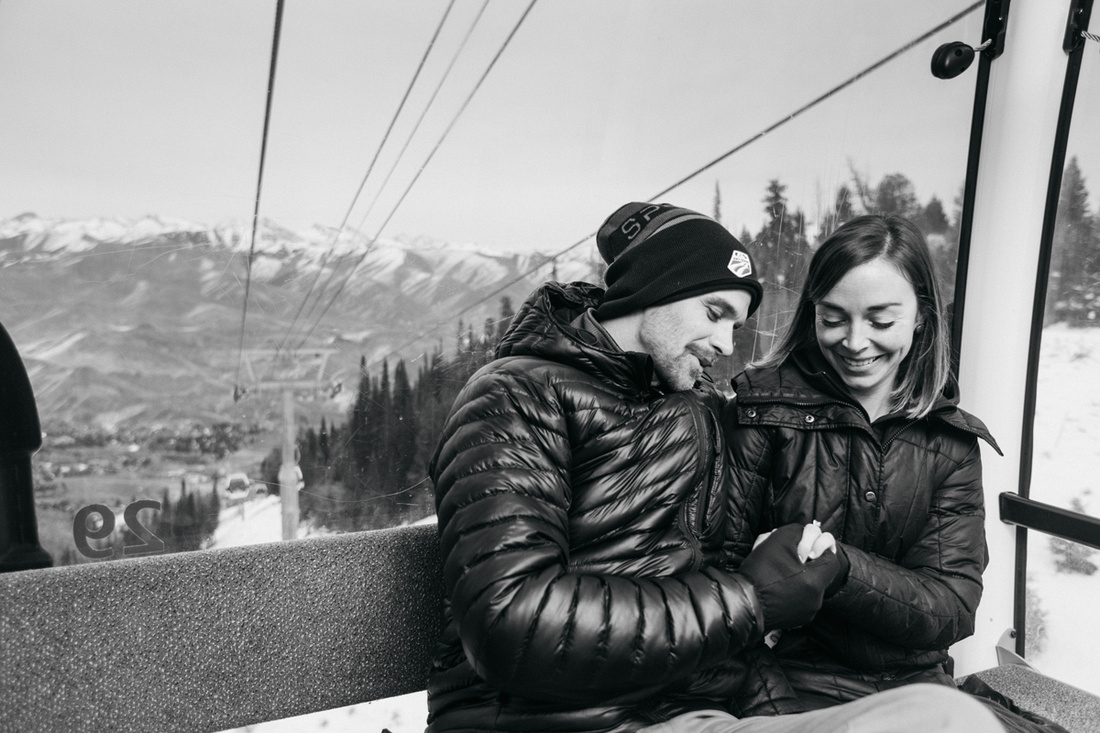 Tobi & McKenzie Proposal and Engagement Photoshoot at Roundhouse Lodge in Sun Valley, Idaho
