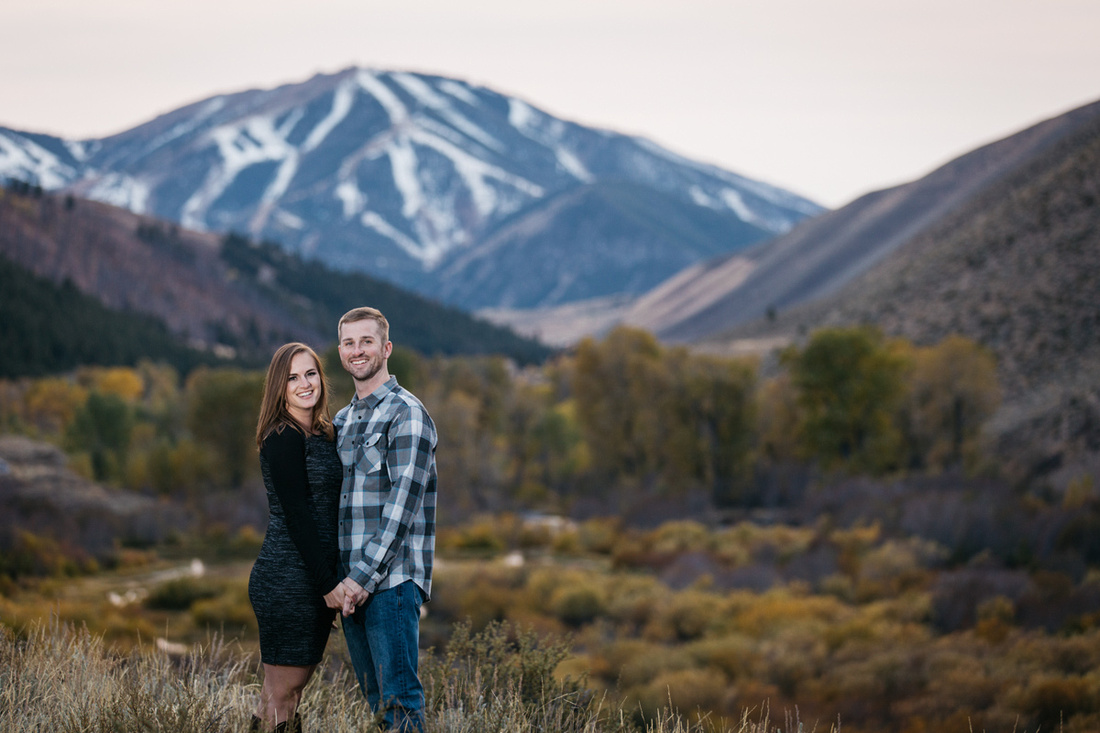 David & Paige Engagement Photo Session Sun Valley, Idaho